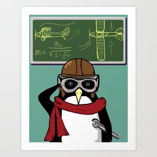 Little Penguin, Big Plans Art Print