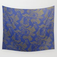 baroque Wall Tapestries featuring Baroque Rose by Azure Cricket