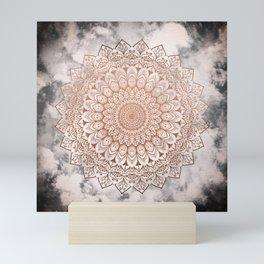 ROSE NIGHT MANDALA Mini Art Print