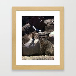 Just a meer kat... Framed Art Print