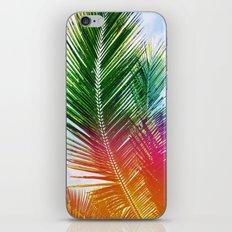 Neon Rainbow palm iPhone & iPod Skin