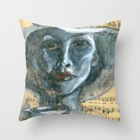 cafe Throw Pillows featuring Cafe by Spinning Daydreams