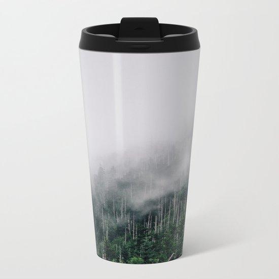 Misty Great Smoky National Park  Metal Travel Mug