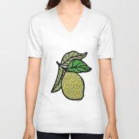 lemon V-neck T-shirts featuring Lemon  by Kris LeGates