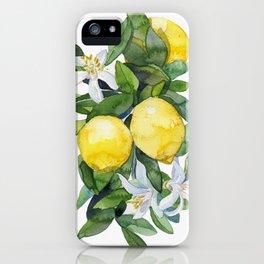 lemon tee iPhone Case