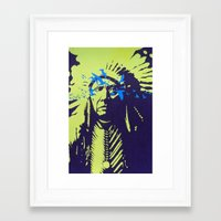 native american Framed Art Prints featuring Native American  by Ty McKie Creations