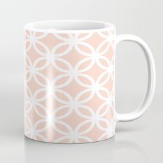 Peach Geometric Circles Mug