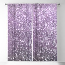 Purple Glitter #1 #decor #art #society6 Sheer Curtain