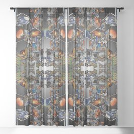 Framework: Fractal Journey Sheer Curtain
