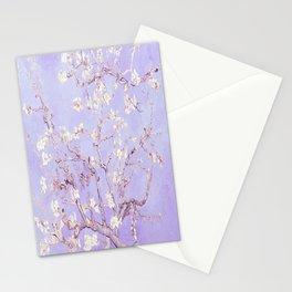 Vincent Van Gogh Almond Blossoms  Lavender Stationery Cards