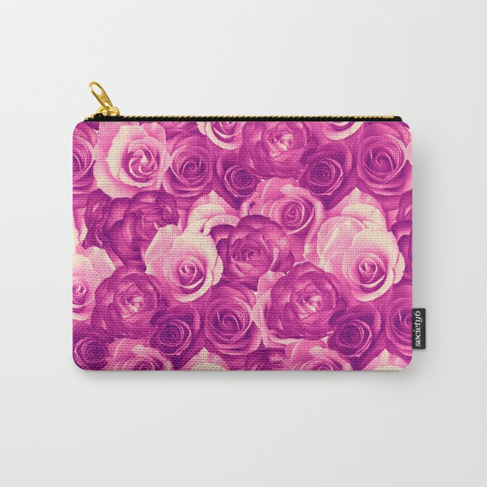 roses carpet in vintage tones Carry-All Pouch