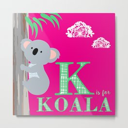 K is for Koala Metal Print