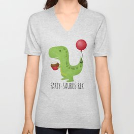 Party-Saurus Rex Unisex V-Neck