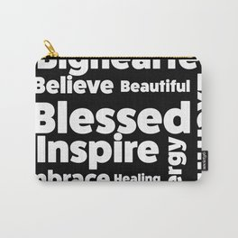 Positive Text board. Carry-All Pouch