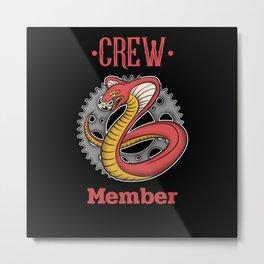 Crew Member Metal Print