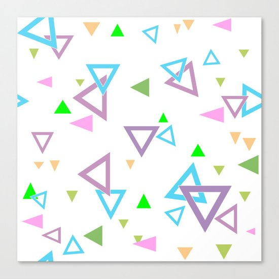 Abstract triangles pattern with triangular Canvas Print