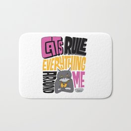 C.R.E.A.M. Cats Rule Everything Around Me Bath Mat