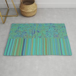 Abstract in Turquoise Rug