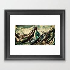 between peaks Framed Art Print
