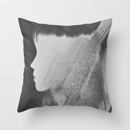 Faceless Charcoal Throw Pillow