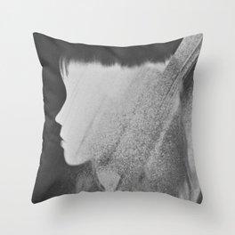 Faceless Charcoal Throw Pillow