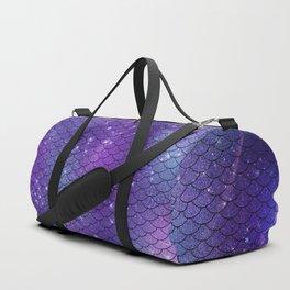 Dark Galaxy Mermaid Pattern Duffle Bag
