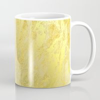 gold foil Mugs featuring Gold Foil by Sweet Karalina