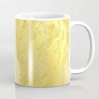 gold foil Mugs featuring Gold Foil by Sweet Karalina