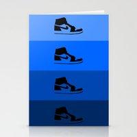 air jordan Stationery Cards featuring JORDAN 1  by ZERO FLUX