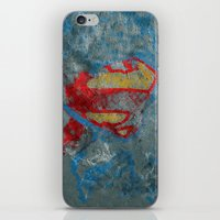 superman iPhone & iPod Skins featuring Superman by Fernando Vieira