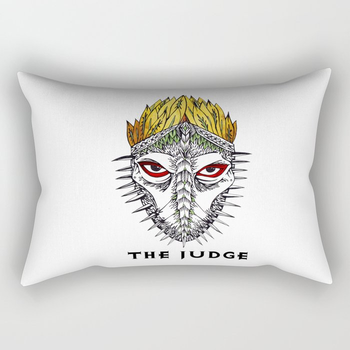 The judge Rectangular Pillow