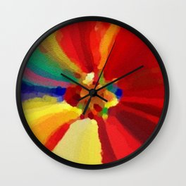 Painter's Floral Wall Clock