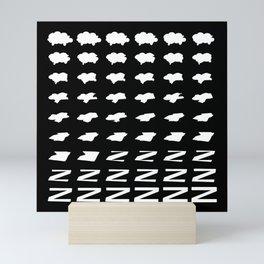 Shleep Tight / Sheep shapes morphing into Zs Mini Art Print