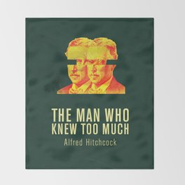 MAN WHO KNEW TO MUCH - Hitchcok Poster Throw Blanket