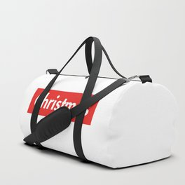 Christmas typography pattern Duffle Bag
