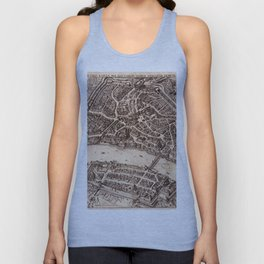 Map Of Basel 1615 Unisex Tank Top