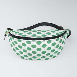 Kelly Green Small Polka Dots Fanny Pack