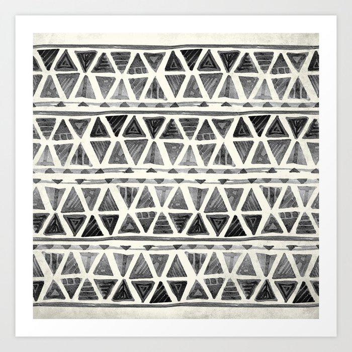 Tribal Geometric Chevron Stripes Art Print