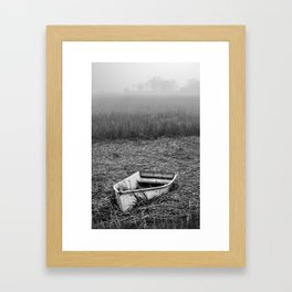 Abandoned Marsh Boat Framed Art Print