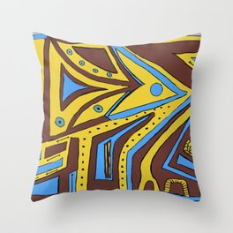 Less-than-Perfect Perfection #abstract #Society6 #byhand Throw Pillow