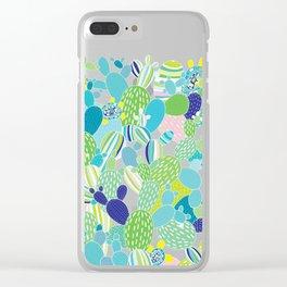 Cactus Mania Clear iPhone Case