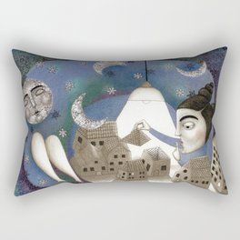 Go to Sleep, Says the Night Rectangular Pillow