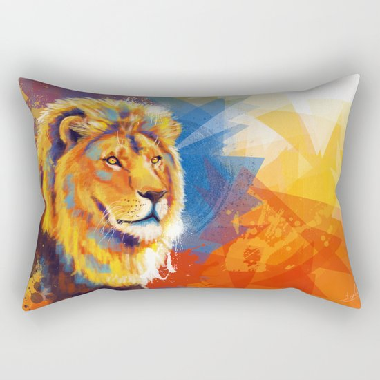 Majesty - Lion portrait Rectangular Pillow