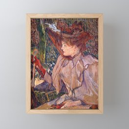 Woman with Gloves by HT-L Framed Mini Art Print
