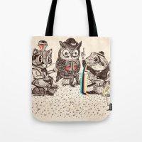 Tote Bags featuring Strange Animals by Alejandro Giraldo