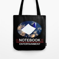 notebook Tote Bags featuring Notebook Entertainment 2 by NotebookFilms