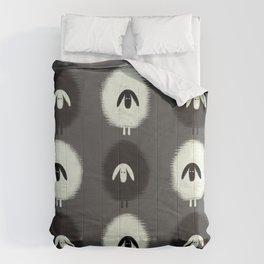 Sheep black & white Comforters
