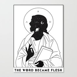 The WORD Made Flesh Canvas Print