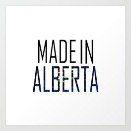 Made In Alberta Art Print