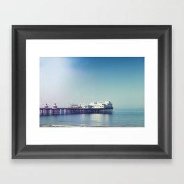 Summer pier Framed Art Print